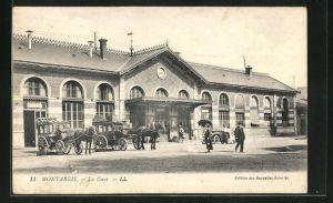 AK Montargis, La Gare, Ansicht vom Bahnhof