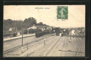 AK Montargis, La Gare, Motiv vom Bahnhof