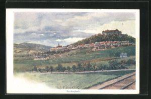 Künstler-AK Franz Kopallik: Neulengbach, Panorama