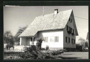 AK Wolfurt, Gartenpartie mit Gebäudeansicht