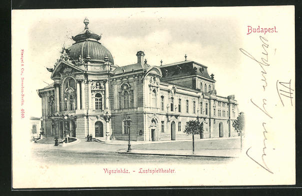 AK Budapest, Lustspieltheater, Eingangsfassade