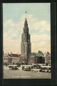 AK Groningen, Martinitoren, Kirche und Markt