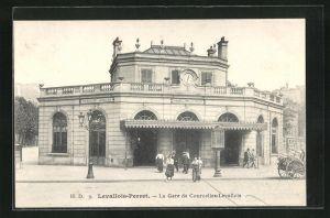 AK Levallois-Perret, La Gare de Courcelles-Levallois