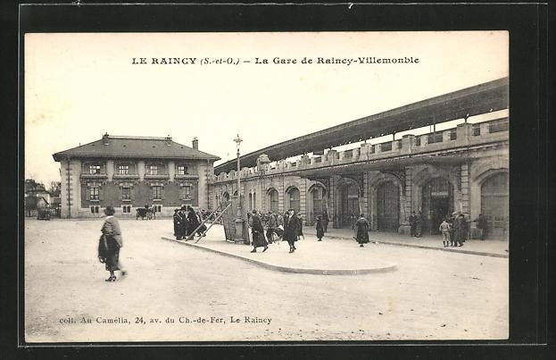 AK Le Raincy, La Gare de Raincy-Villemonble, Bahnhof