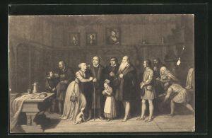 AK Wittenberg, Martin Luther verabschiedet sich im Januar 1546 von mehreren Personen