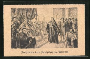 AK Worms, Martin Luther spricht vor dem Reichstag