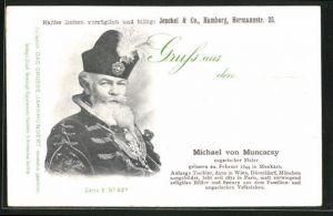 AK Maler Michael von Muncacsy, Portrait und Lebenslauf