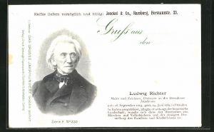 AK Maler Ludwig Richter, Portrait und Lebenslauf