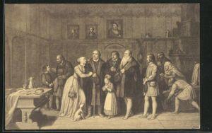AK Wittenberg, Martin Luther verabschiedet sich von mehreren Personen