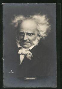 AK Philosoph Arthur Schopenhauer, Bildnis mit wirrem weissen Haar