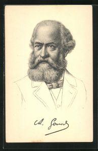 AK Komponist Charles Gounod, Halbportrait mit Bart