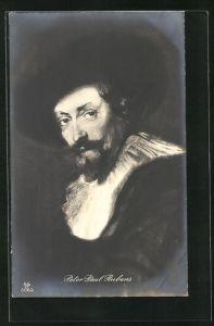 AK Peter Paul Rubens, Maler mit Halskrause
