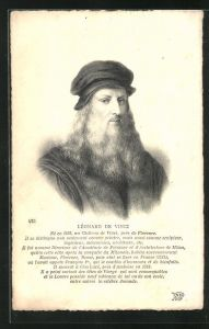 AK Léonard da Vinci, Portrait des Künstlers