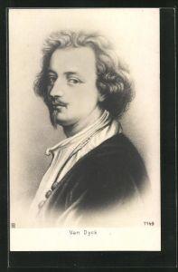 AK Van Dyck, Portrait des Malers