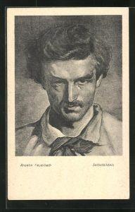 AK Anselm Feuerbach, Selbstbildnis