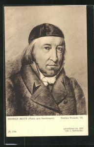 AK Goethes Freunde VII, Heinrich Meyer, Portrait des Malers genannt Kunstmeyer