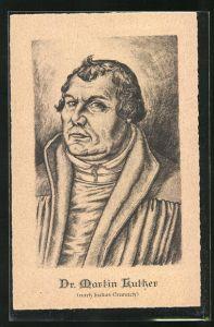 AK Dr. Martin Luther, nach Lukas Cranach