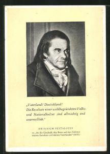AK Grosse Deutschschweizer, Heinrich Pestalozzi
