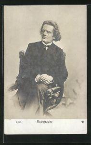 AK Rubinstein, Portrait des Komponisten