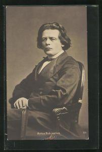 AK Portrait von Anton Rubinstein, Komponist