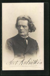 AK Portrait Ant. Rubinstein mit Fliege im Anzug