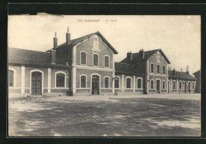 AK Gannat, La Gare, Blick zum Bahnhof