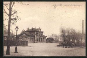 AK Argenteuil, Gare de la Grande Ceinture, Strasse am Bahnhof