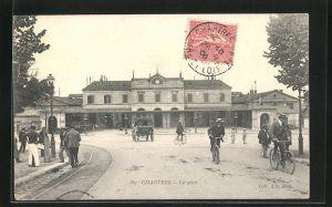 AK Chartres, La Gare, Blick auf den Bahnhof