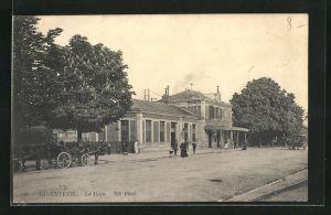 AK Argenteuil, La Gare, Partie vor dem Bahnhof