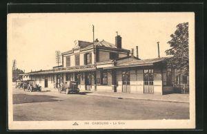 AK Cabourg, La Gare, Blick auf den Bahnhof