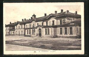 AK Forbach, La Gare, Partie am Bahnhof