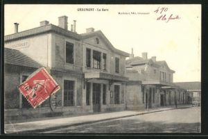AK Chaumont, La Gare, Blick zum Bahnhof