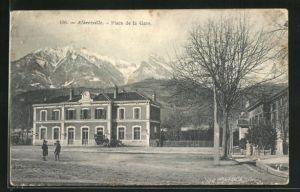 AK Albertville, Palce de la gare, Bahnhof und Vorplatz