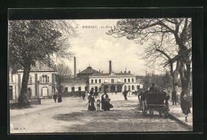 AK Epernay, La gare, Blick zum Bahnhof