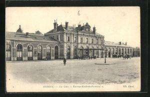 AK Evreux, La Gare Evreux-Embranchement, Bahnhofsgebäude