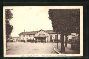 AK Corbeil, La Gare, prise de l'Avenue Darblay