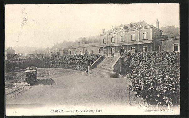 AK Elbeuf, La Gare d'Elbeuf-Ville 0
