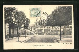 AK Argenteuil, La Gare, Bahnhof
