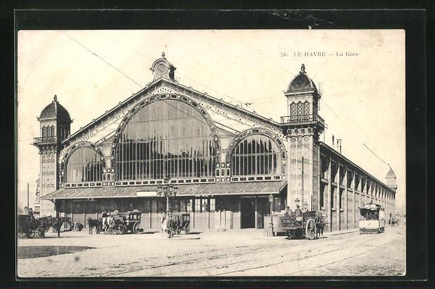 AK Le Havre, La Gare et Tramway