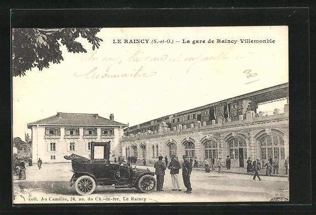 AK Le Raincy, La Gare de Raincy Villemonble, Bahnhofsgebäude