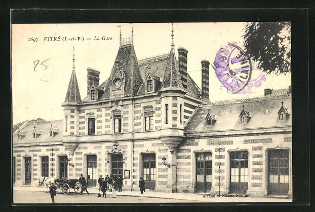 AK Vitre, La Gare, Bahnhofsgebäude
