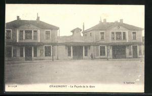 AK Chaumont, La Facade de la Gare, Partie am Bahnhof