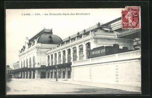 AK Lyon, La nouvelle gare des Brotteaux, Bahnhof