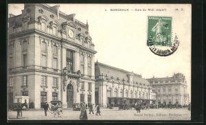 AK Bordeaux, Gare du Midi, Partie am Bahnhof