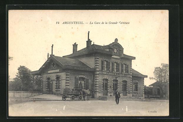AK Argenteuil, LA gare de la Grande Geinture, Bahnhof