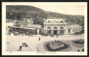 AK Gerardmer, La gare, Bahnhof mit Vorplatz