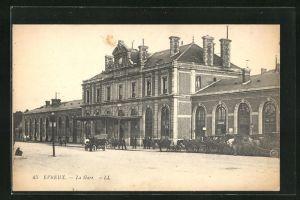 AK Evreux, La Gare, Bahnhof