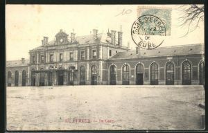 AK Evreux, La Gare, Blick zum Bahnhof