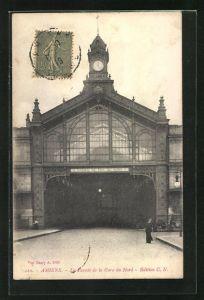 AK Amiens, La Facade de la Gare du Nord