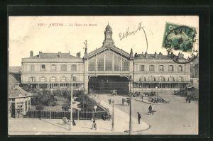 AK Amiens, La Gare du Nord, Bahnhofsgebäude